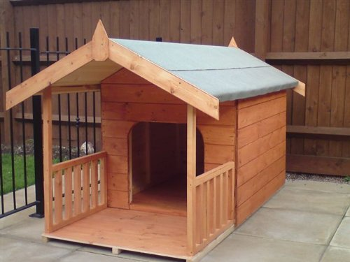 Dog kennel with veranda
